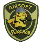 "Патч ""Airsoft Pokemon"", 9.7 x 11.7 см"