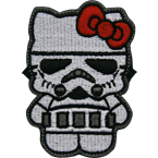 "Патч ""Hello Kitty. Stormtrooper"", 6.5 x 8.9 см"
