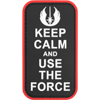 "Патч ""Keep calm and use the force"", ПВХ, 5 x 8.9 см"
