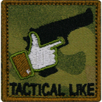 "Патч ""Tactical like"", 5.1 x 5.3 см"